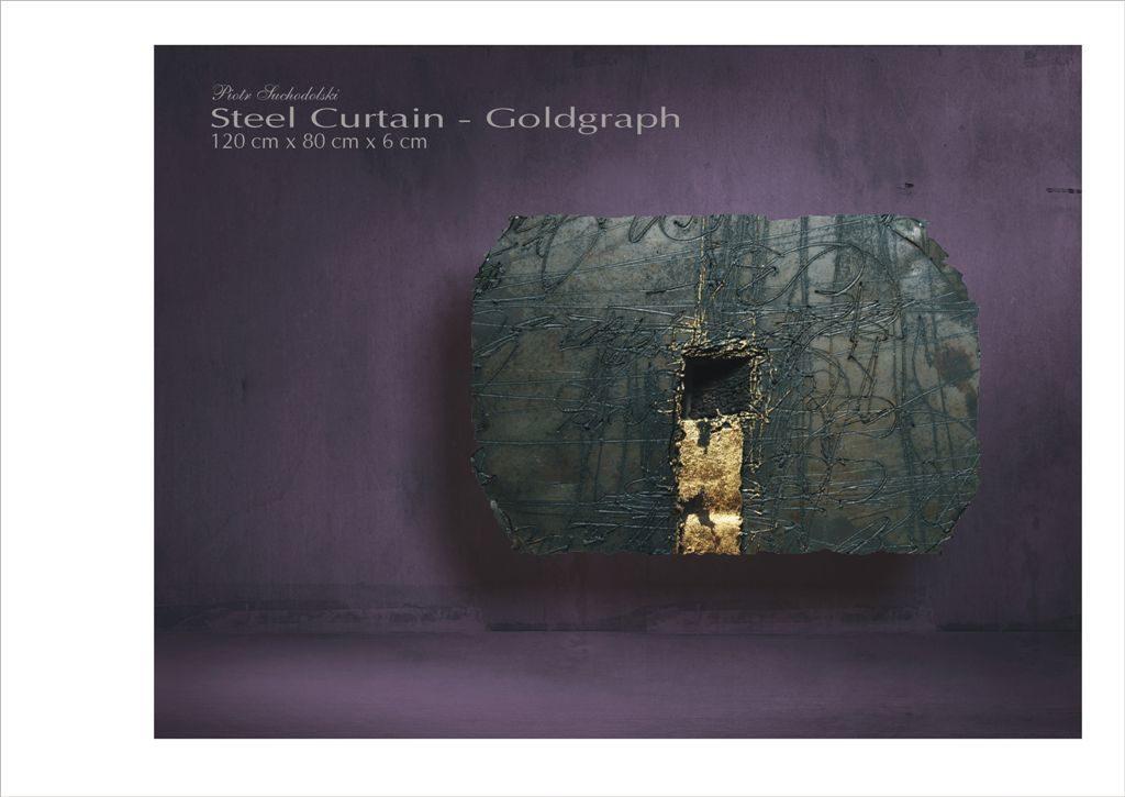 Steel Curtain - Goldgraph, stal patynowana Piotr Suchodolski - Gratia Artis