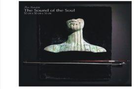 The Sound of the Soul, brąz patynowany, smyczek, tkanina Piotr Suchodolski, Gratia Artis