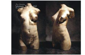Venus Torso 02a, technika własna, polichromowana, złocenie 24 Kt , Piotr Suchodolski - Gratia Artis