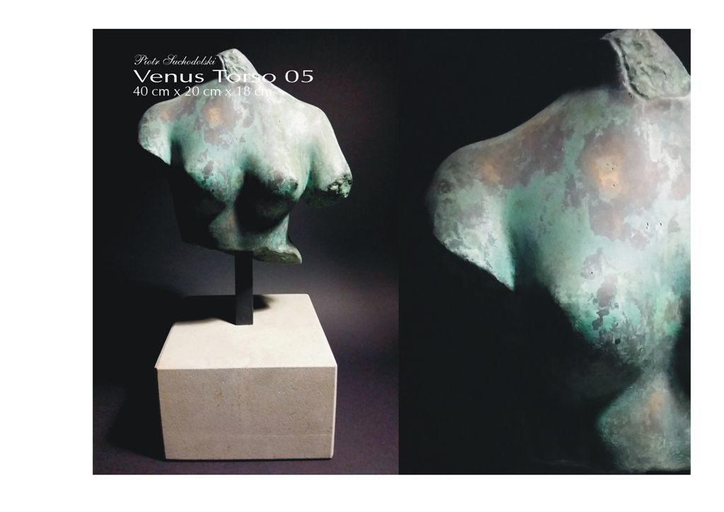 Venus Torso 05 brąz patynowany, kamień, Piotr Suchodolski - Gratia Artis